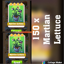 150 x Martian lettuce :- Sand Land -Set : Coin Master Cards ( Fastest Delivery )
