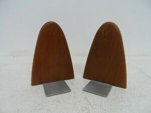 Pair of Mid Century Teak Bookends  #3  D27