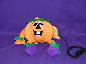 Vintage Halloween Pumpkin Bouncy Bungee Plush Toy 7 inch