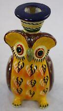 Pili Maya Handmade Painted Owl Candle Holder Original Decorated Wooden Box