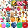 Dog Puppy Pet Chew Squeaker Squeaky Funny Sound Plush/Rubber Toy Play Toys Lot