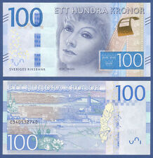 Svezia/Sweden 100 Kronor (2016) UNC P. New Greta Garbo