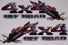 4x4 Off Road American Flag Eagle #2 PAIR Chevy Power 2500 3500 F250 F150  Wagon