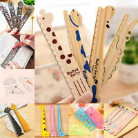 Cute Ruler Wood Animal Straight Ruler Gift Kids Student Supplies Draw Stationery