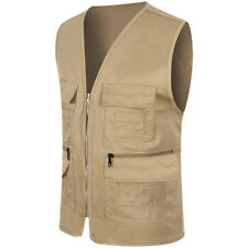 Men's Multi Pocket Travelers Fishing Photography Director Casual Vest Outdoor US