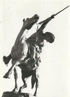 CD-270 WY, Cody, Buffalo Bill Monument Statue Real Photo Postcard RPPC Kodak