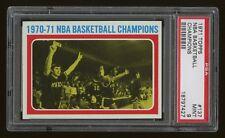 1971 Topps #137 NBA Champions Milwaukee Bucks Oscar Robertson PSA 9