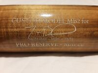 Mookie Betts Maple Victus Game Used Signed Bat 2015 Boston Red Sox + LA Dodgers