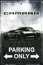 """Camaro Parking Only 8""""x12"""" Collectible Aluminum Metal Plate Parking Sign"""