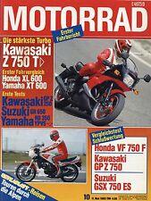 10/83 MOTO 1983 KAWASAKI z750 TURBO VESPA pk80s YAMAHA rd350lc XT 600 MOTO