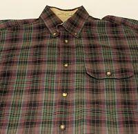 Orvis Men's Medium Multi-Color Plaid Long Sleeve Shirt Button Front 100% Cotton