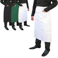Chef Bistro Apron Waist Waiter Waitress Cafe Bar Apron FRONT LARGE POCKET