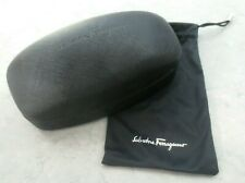 Salvatore Ferragamo Eyeglass Sunglass Hard Leather Case w/ Pouch