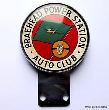 Rare 1960s Car Badge - Braehead Power Station Auto Club - Scotland Auto Mascot