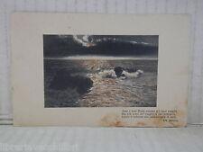 Vecchia cartolina foto d epoca di CON FRASE DI DE AMICIS MARE SUSSURRO 1926