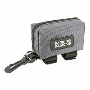 Barking Basics Walking Pouch & dog poop waste bag dispenser - Charcoal