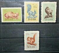 FRANCOBOLLI COREA ASIA 1962 ANIMALI SEVATICI FAUNA NUOVI MNH** LOT (C.Y)