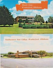 Southwestern State College and Howdy from Weatherford, Oklahoma - 2 Postcards