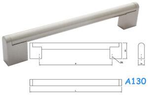 Kitchen Cupboard Cabinet Boss Bar Door Handles Brushed Stainless Steel A130