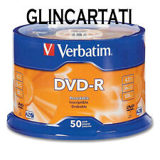 100  DVD -R VERBATIM dischetti vergini vuoti 16X Advanced Azo dvdr 4.7 GB