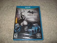 Batman Arkham City Armored Edition (Nintendo Wii U, 2012) Brand New Sealed USA