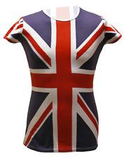 SF204 Union Jack Allover Print Girls T Shirt