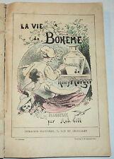 1877 LA VIE BOHEME by HENRI MURGER w/ LE PAYS LATIN & LE SOUPER DES FUNERAILLES