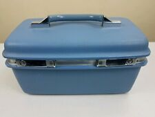 Vintage Samsonite Montbello II Train Case Make-Up Beauty Case Blue