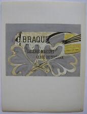 Georges Braque Plakat Maeght Orig Lithografie 1959 Maitres de l'Ecole