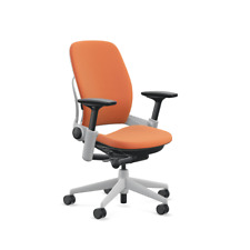 Steelcase Leap Chair With Platinum Base Amp Standard Carpet Caster Tangerine