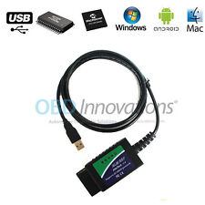 ELM327 USB Cable OBD2 Diagnostic Scanner with FTDI FT232RL Chip PIC18F25K80 v1.4