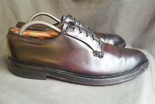 Men's Burgundy Shell Cordovan Leather FLORSHEIM 93606 Plain Toe Blucher Sz-11