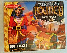 PIRATE'S BOUNTY PUZZLE 100 pieces FLOOR Puzzle 2 FEET x 3 FEET Melissa & Doug