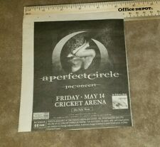 A Perfect Circle newspaper concert ad charlotte nc free Us shipping