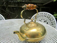 Old Antique Victorian all Original Brass Kettle made in England c1890 no leaks