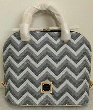 NWT Dooney & Bourke Zip Zip Chevron Satchel Bag $238 Black Multi Original Packa