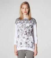 DIESEL Black Gold Langarmshirt Bluse Top Shirt T-Shirt weiß schwarz XS S 34 36 !