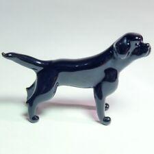 Glass figurine LABRADOR. Art Murano. Retriever Dog miniature home decor. VIDEO