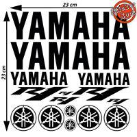 Kit Foglio 15 Adesivi Yamaha R1 R 1 Logo Moto Vinile Decal Stickers 23x23cm