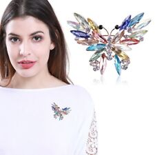 1 PC Multi-Color Butterfly Crystal  Pins Brooch Women Fashion Jewelry Party Gift