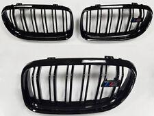 BMW E90 E92 E93 M3 Saloon Coupe Cable Rejilla Negro Brillante