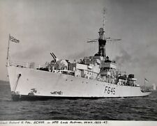 Canada Ww2 Canadian Navy frigate Hms Loch Ruthven photo Lt Pike Rcnvr 1939 -1945