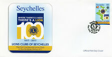Seychelles 2017 FDC Lions Club International 100th Anniv 1v Set Cover Stamps