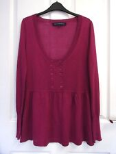 Gathered Waist Jumper by French Connection.Size L (12/14).Pink.Fine Wool Blend.