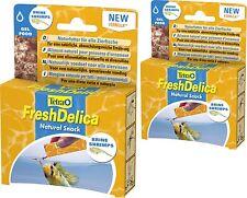 Tetra freshdelica Shrimps 2 x 48 Size Brine in Jelly, also for invertebrates
