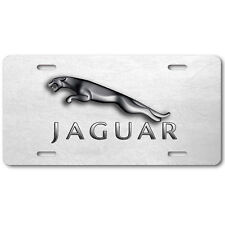 Jaguar Aluminum Car Auto License Plate Abstract Art New British White leather