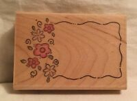 Image Tree IT03D Flower Patch Rubber Stamp Wood