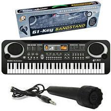 Electronic Piano Keyboard 61 Keys Digital Music Organ Microphone Musical Gift UK