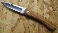 Nieto Coltello Coltellino Coltello pieghevole Olive legno acciaio an.58 264709 NUOVO