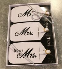 Lillian Rose 3 Mr. Mrs. More Matching Couple Luggage Tags - New In Box